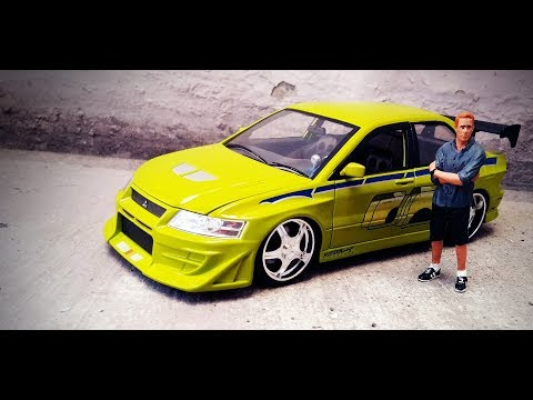 Unboxing Jada Toys Mitsubishi Lancer Evo 7 (Brian / Paul Walker) scale 1:24 Fast and Furious