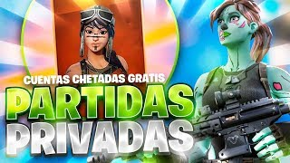 🔴IF I GANS I GIVE YOU FORTNITE'S CHETADA ACCOUNT *FREE*/ PRIVATE PARTIES WITH SUBSCRIBERS !🔴