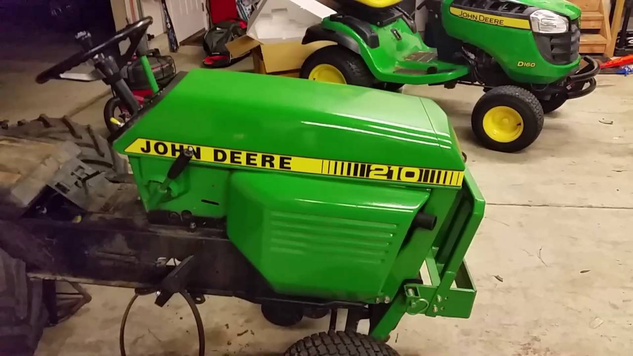 A Garage Full of John Deere Garden Tractor Projects & Attachments