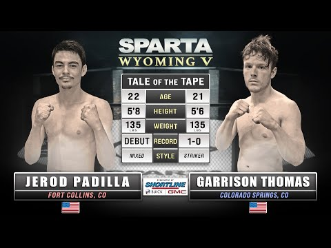 Sparta Wyoming 5 Jerod Padilla vs Garrison Thomas MMA