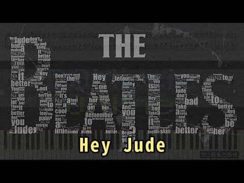 Hey Jude - The Beatles (Piano Tutorial) Synthesia 琴譜 Sheet Music