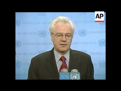Russia's ambassador to the United Nations, Vitaly Churkin said a recent New York Times article which