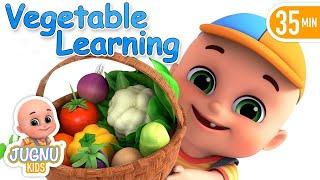 Yes Yes Vegetables Song | Learn Colors & Vegetables + More Nursery Rhymes & Kids Songs -  Jugnu Kids