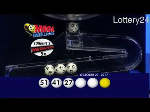 2017 10 27 Mega Millions Numbers and draw results