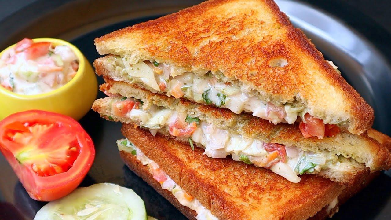 5 ని||ల్లో నోరూరించే వెజ్ శాండ్విచ్ వేడివేడిగా😋👌| Veg Sandwich | Street Style Vegetable Sandwich