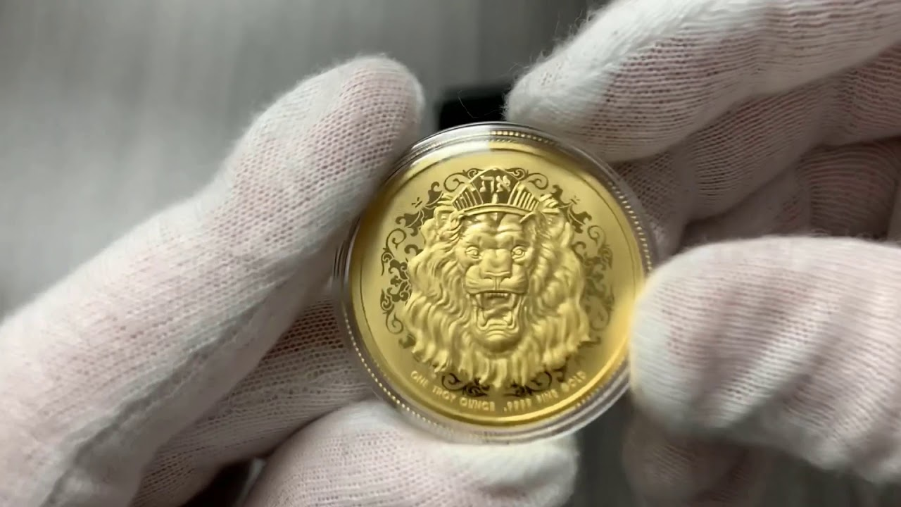 🦁 First Ever Gold Proof Roaring Lion (Only 250) 🦁