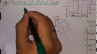 Nut and bolt drawing, online education
