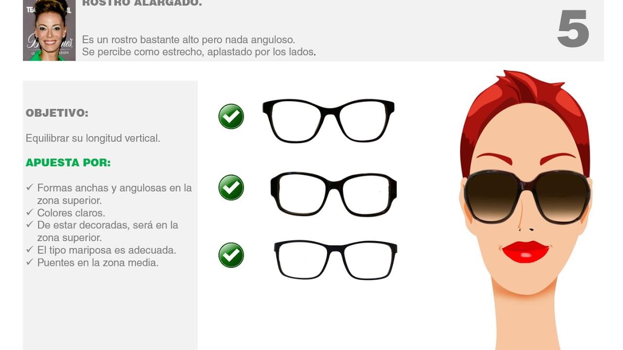 65efbed132 Mujeres, gafas ideales para rostros alargados - YouTube
