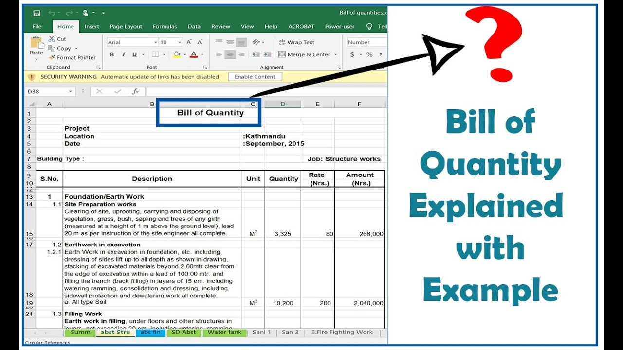 What Is Bill Of Quantity Boq Explained In Detail With Example