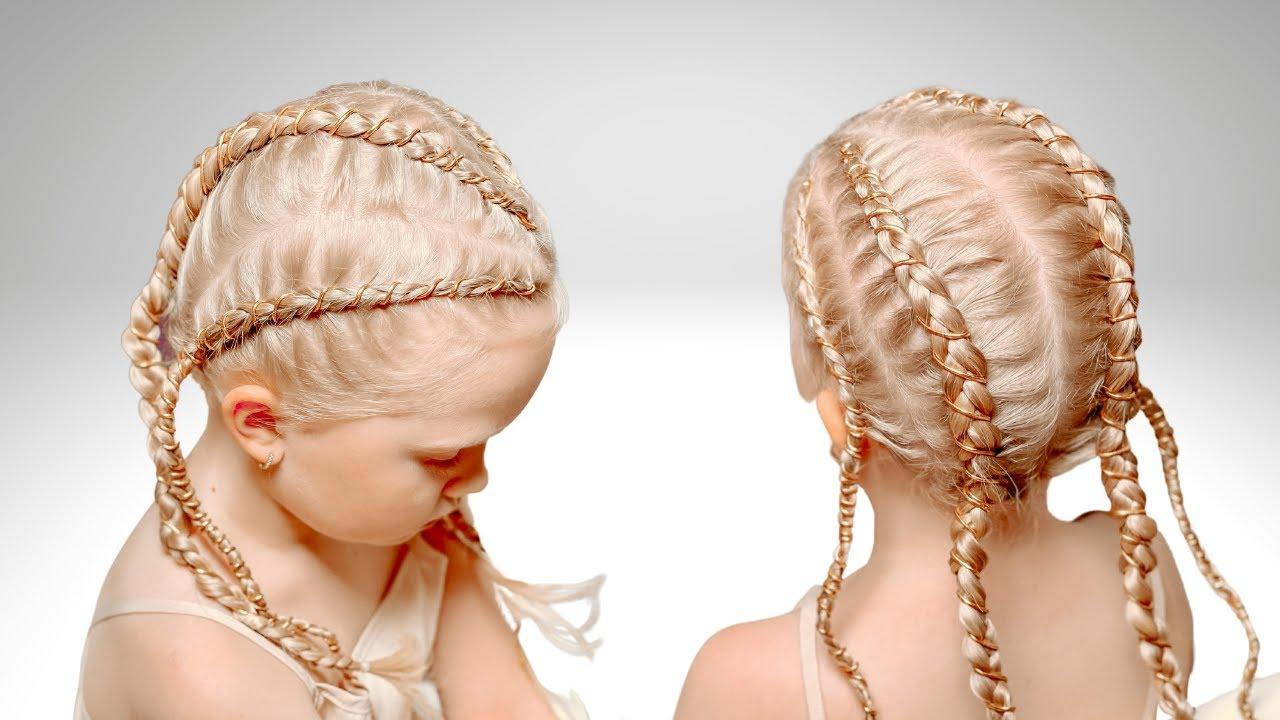 Золотые косы | Прически для девочек