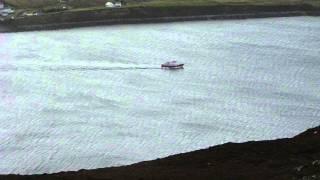 The Inishbofin Ferry, Leaving Cleggan, Ireland.