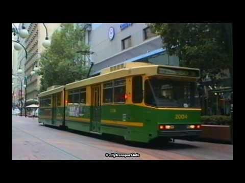 Melbourne1991-3 Trams - Bourke Street Mall