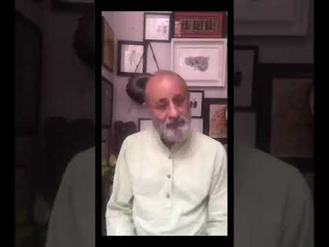 Leading Urdu Poet Gauhar Raza urges us to continue working despite the current situation