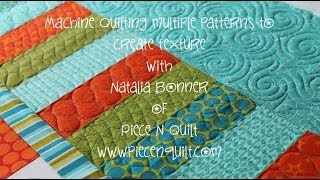 How To: Machine Quilt Multiple Patterns To Create Texture