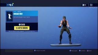 Fortnite Dream Feet avec tous mes skins