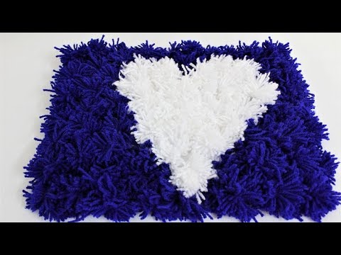 Valentine's Day 5 minutes woolen soft Blanket, rug, carpet, coaster ,table mat ,