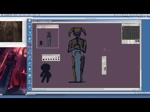How to pixel art FANTASY STATUE background game asset - Timelapse Speed Draw Speedpaint Speedart
