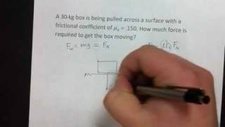 Physics Chapter 8 Review: Friction on a level surface