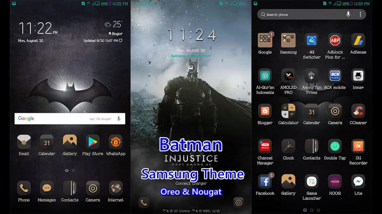 Batman Injustice Samsung Theme Oreo & Nougat