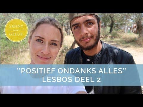 Lesbos Deel 2: In gesprek met Basel the Happinessmaker!  Sanny zoekt Geluk