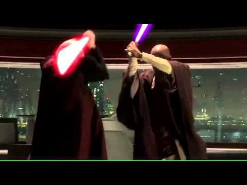 Mace Windu vs. Palpatine - How it should have been - YouTube