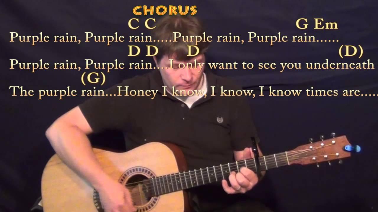 Purple Rain Prince Guitar Cover Lesson With Chordslyrics Capo