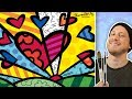 How to Paint in the Style of Romero Britto - Painting Class