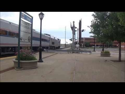 Amtrak Trains in Springfield, IL Video 2