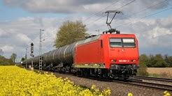 HSL 145 092 kommt mit Makro und Kesselzug durch B-Mahndorf richtung Wunstorf