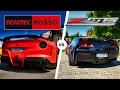 Ferrari F12 vs Corvette Z06 ACCELERATION SOUND & POV Autobahn by AutoTopNL