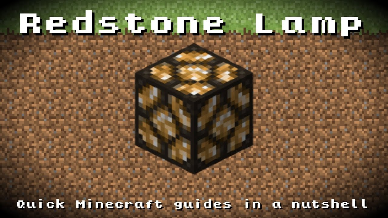 Minecraft   Redstone Lamp! Recipe, Item ID, Information! *Up To Date!*    YouTube