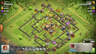 Clash of Clans Double Clone Spell 7 Hound Loon Attack 3 Star Strategy