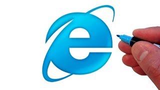 How to Draw the Internet Explorer Logo