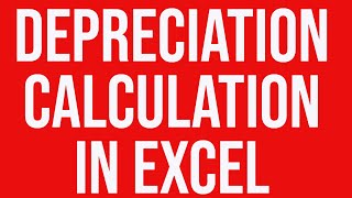 Practical example of depreciation calculation in Excel