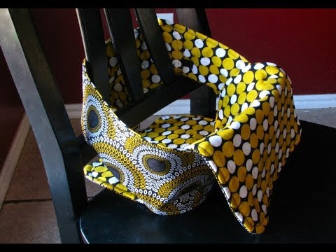 Anywhere chair: fabric highchair tutorial youtube.