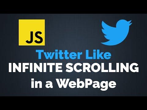 Infinite Scrolling In A Web Page Using JavaScript