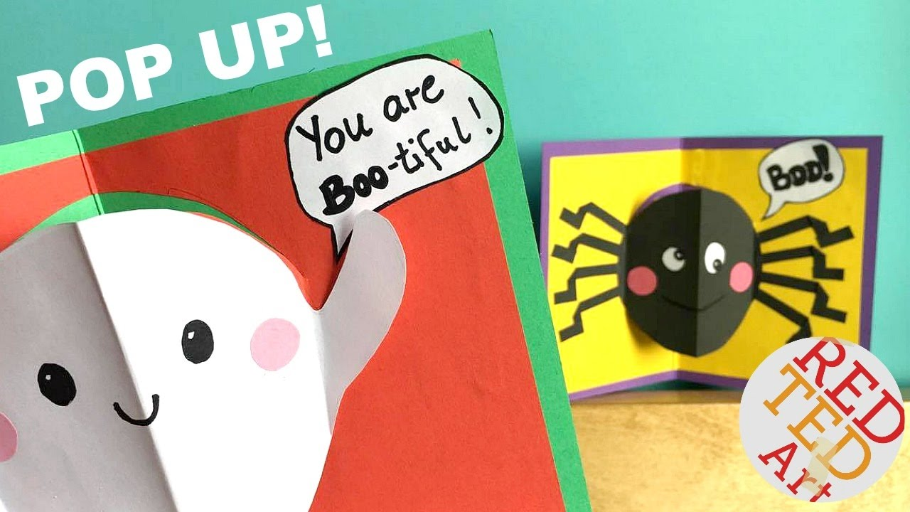 easy halloween pop up cards (with halloween jokes for kids) - easy