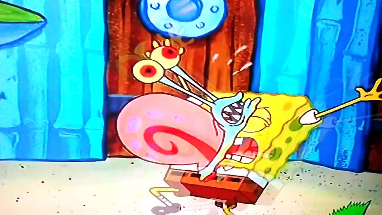 Gary attacks spongebob YouTube