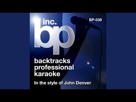 Sunshine On My Shoulders (Karaoke Instrumental Track) (In the Style of John Denver)