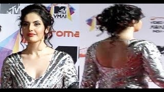Lusty & Busty Zarine Khan at Micromax MTV Video Music Awards India 2013