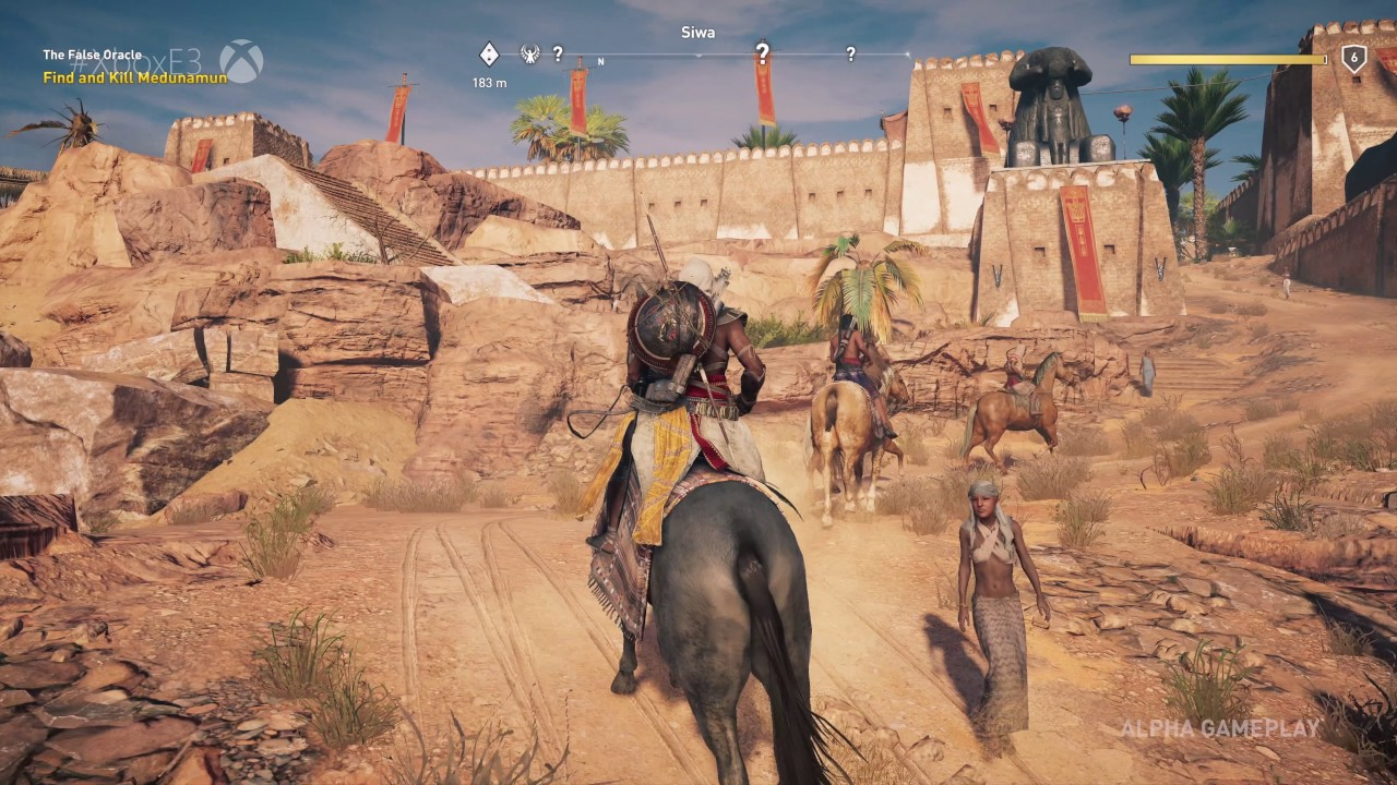 Assassin S Creed Origins E3 Press Conference Gameplay 4k 30