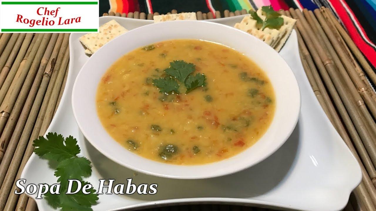 Sopa De Habas Receta Deliciosa