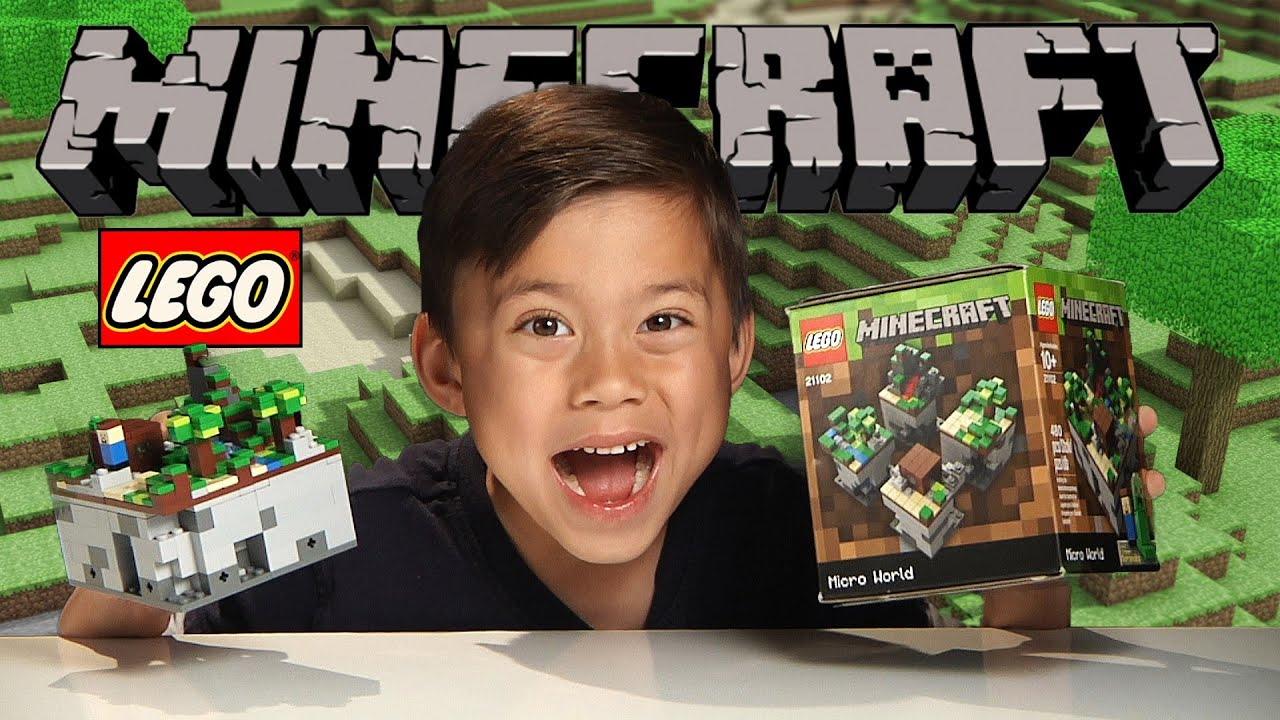 LEGO MINECRAFT Micro World – THE FOREST!!!! Set 21102 Review, Unboxing, Time-lapse, Stop Motion