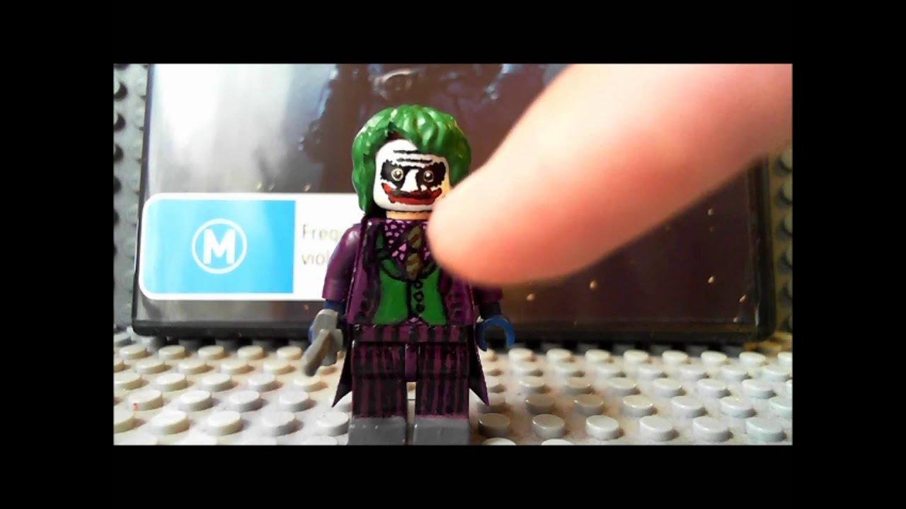 Custom Lego The Dark Knight: Joker And Two Face Minifigures