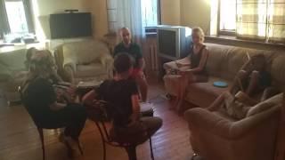 Урок игры на ударных. Мастер-класс Даниила Ленци в лагере mini-camp