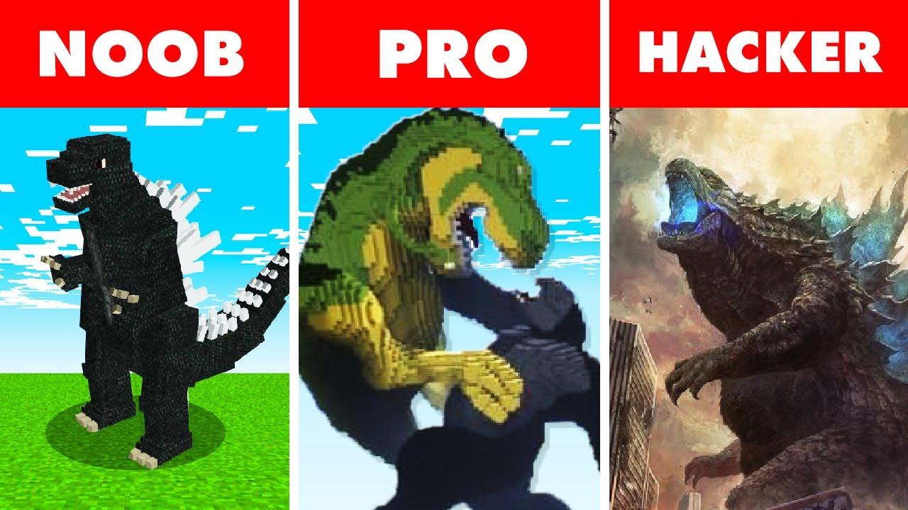 Noob vs. Pro vs. Hacker : MUTANT GODZILLA BATTLE! In Minecraft Animation