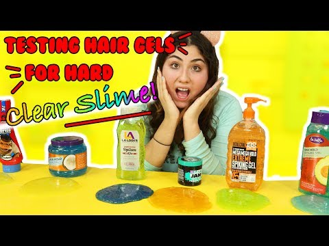 TRYING OUT HAIR GEL FOR HARD CLEAR SLIME PART 2 | fixing hard slime | Slimeatory #206