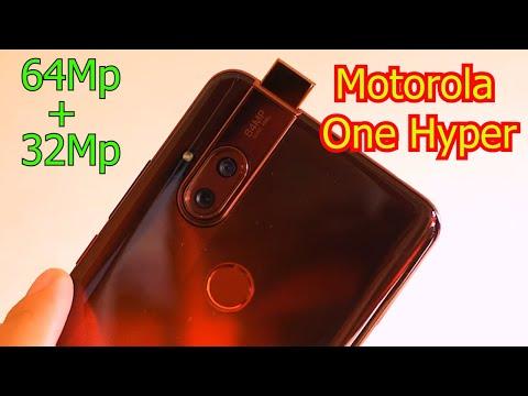 Motorola One Hyper 64мп камера, модуль NFC, большой безрамочный экран