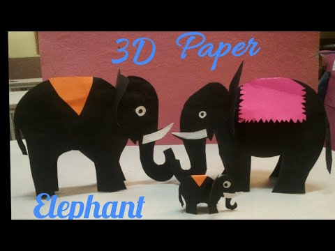 How to make 3D paper Elephant? Easy and simple