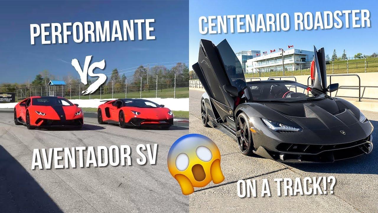 LAMBORGHINI AVENTADOR SV VS PERFORMANTE!? AND CENTENARIO ...